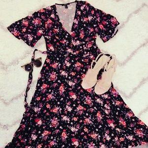Forever21 Black wrap dress